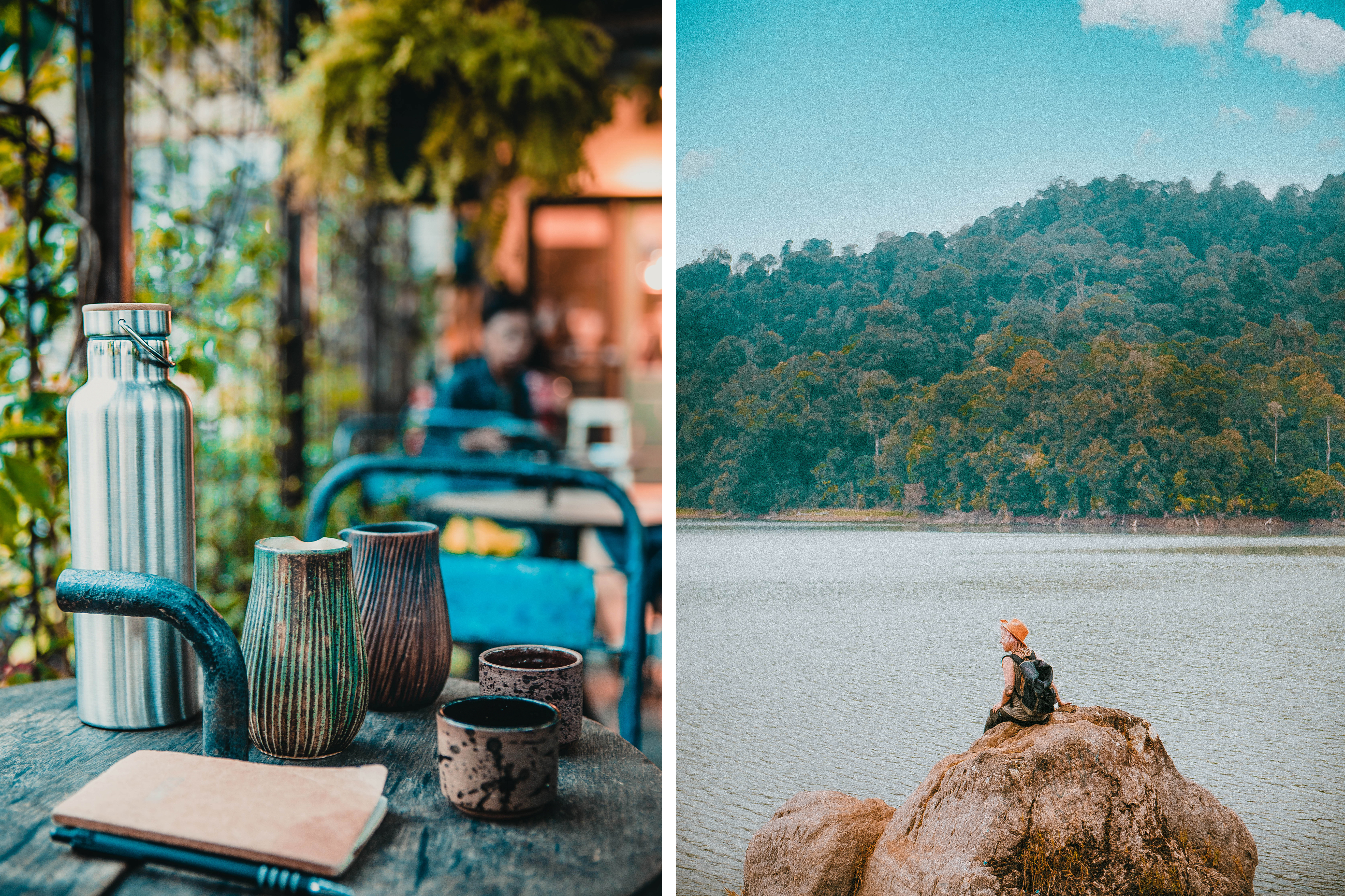 coffee shop bandung blue doors indonesia relax javanese lake