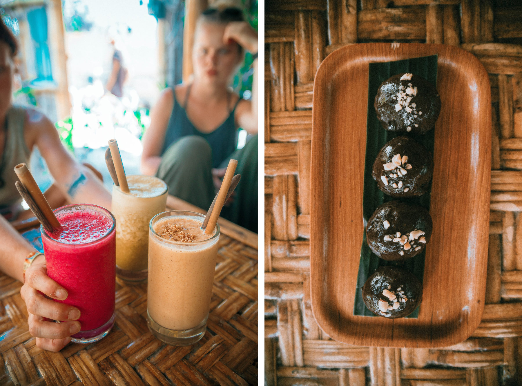 vegan healthy food in gili islands pitu cafe indonesia jackfruit curry